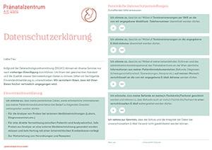 Vorschaubild Datenschutzerklärung Pränatalzentrum Wien